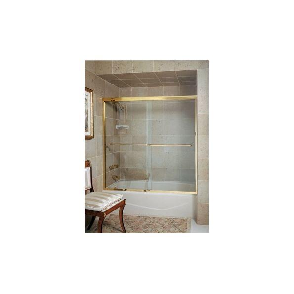 Frameless Slider Shower Door - CT-5 Tub Enclosure with Optional Flat ...