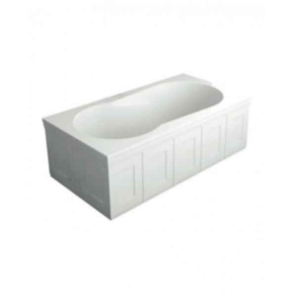 End Skirt Panel for Brookfield Bathtub in White