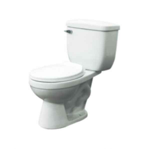 Two Piece Madison HET Round Front Toilet in White