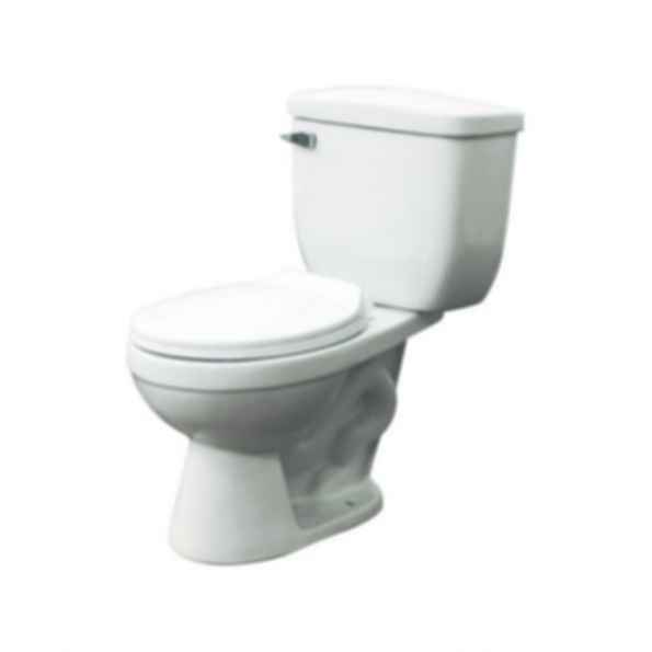 Two Piece Madison HET Elongated Front Toilet Kit in White