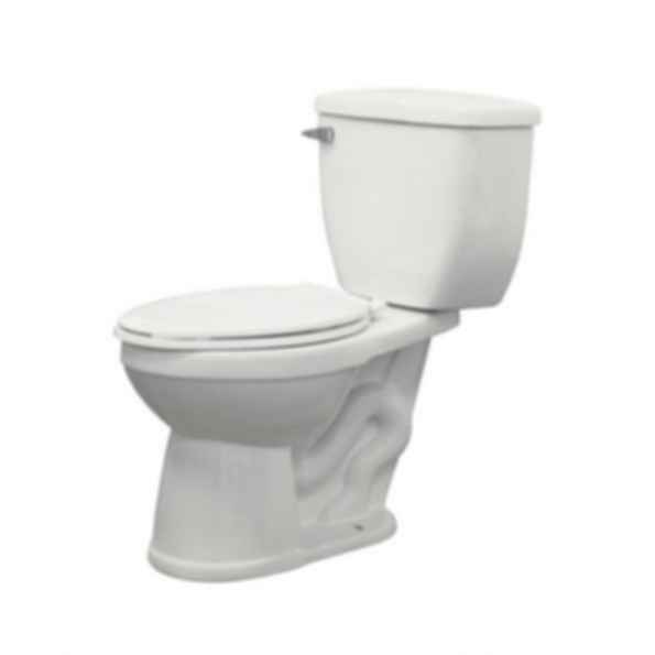 Two Piece McKinley Elongated Front Toilet in White