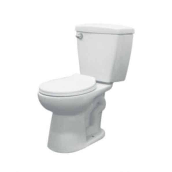 Two Piece Harrison Round Front Toilet in White