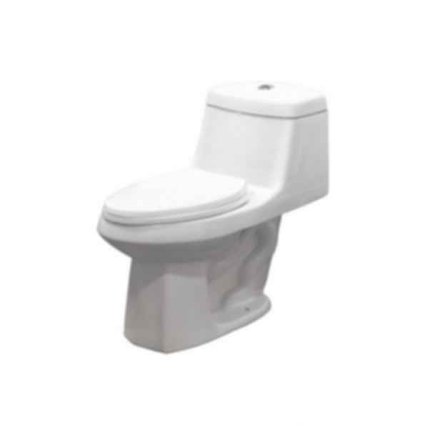 Two Piece Jackson Elongated Front Toilet in White