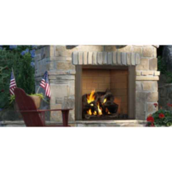 Outdoor Wood Fireplace - Castlewood
