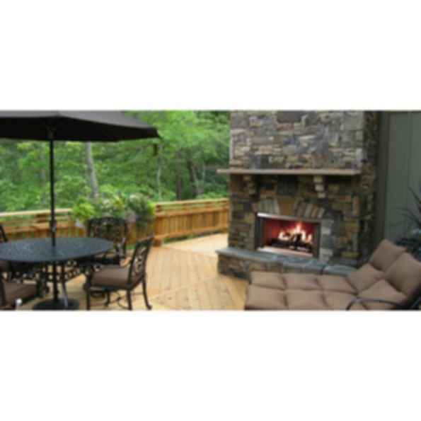 Outdoor Wood Fireplace - Montana