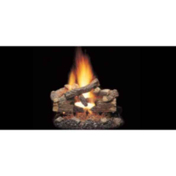 Vented Gas Log Set - Massive Oak See-Thru