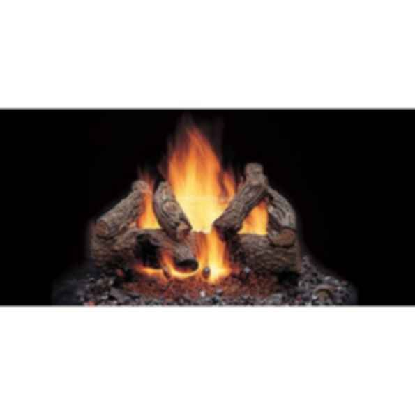Vented Gas Log Set - American Oak