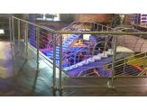 Glass Panel & Stainless Steel Cable Handrail - System SPG1-2000