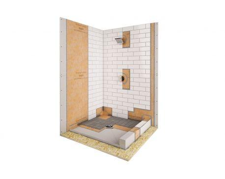 schluter kerdi shower kit. Black Bedroom Furniture Sets. Home Design Ideas