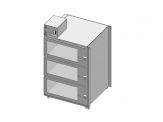 Desiccator Cabinets - CAP19S-SST-3DR-SGL