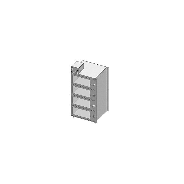 Desiccator Cabinets - CAP19S-SST-4DR-SGL