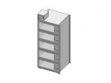 Desiccator Cabinets - CAP19S-SST-5DR-SGL