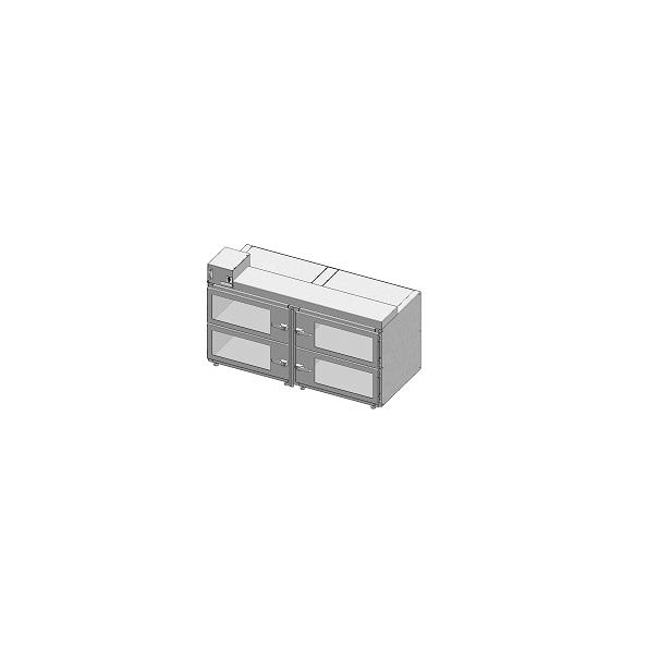 Desiccator Cabinets - CAP19S-SST-4DR-DBL