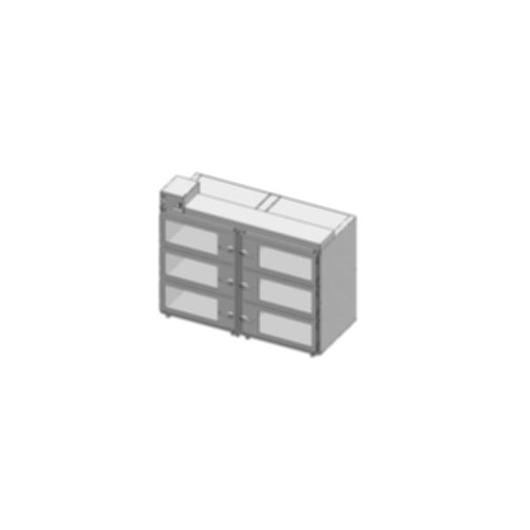 Desiccator Cabinets - CAP19S-SST-6DR-DBL