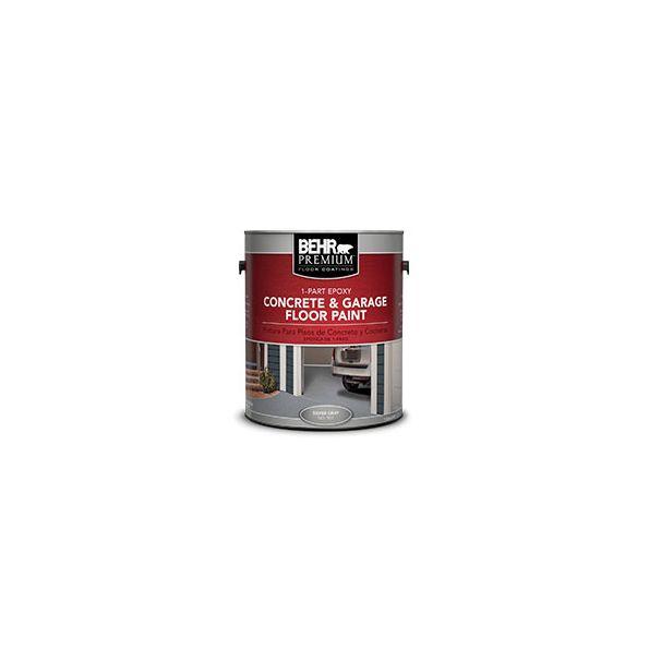 Behr premium 1 part epoxy concrete garage floor paint for Behr barn and fence paint