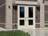 FRP Pebble Grain Aluminum Hybrid Door