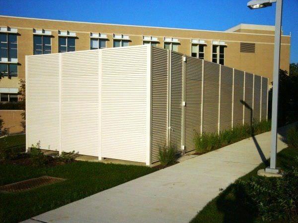 Aluminum Fixed Louver Fence Modlar Com