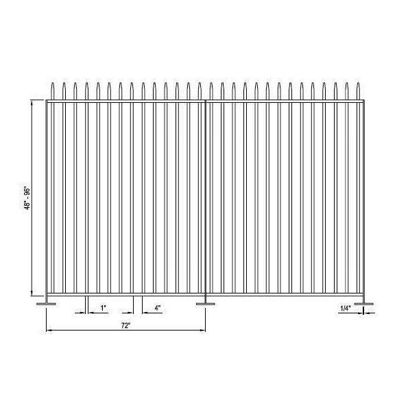 Falcon Aluminum Picket Fence System - modlar.com