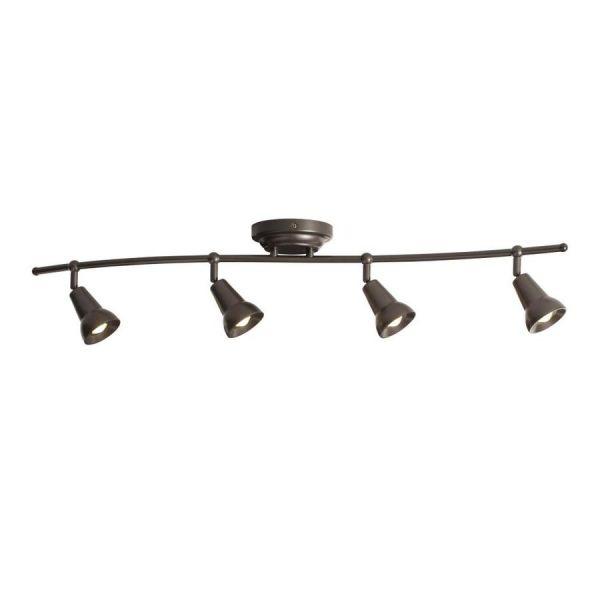 Led Track Lighting Bronze: Saura 4 Light Fixed Track Light