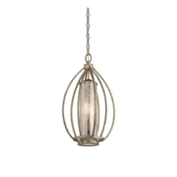 Savanna 1 Light Pendant in Sterling Gold