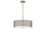 Silver Coral 3 Light Pendant/Semi-Flush - Classic