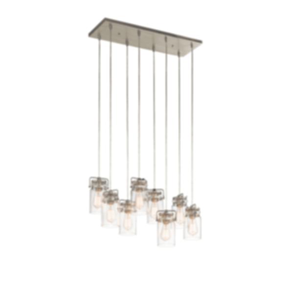 Brinley 8 light Pendant - Brushed Nickel