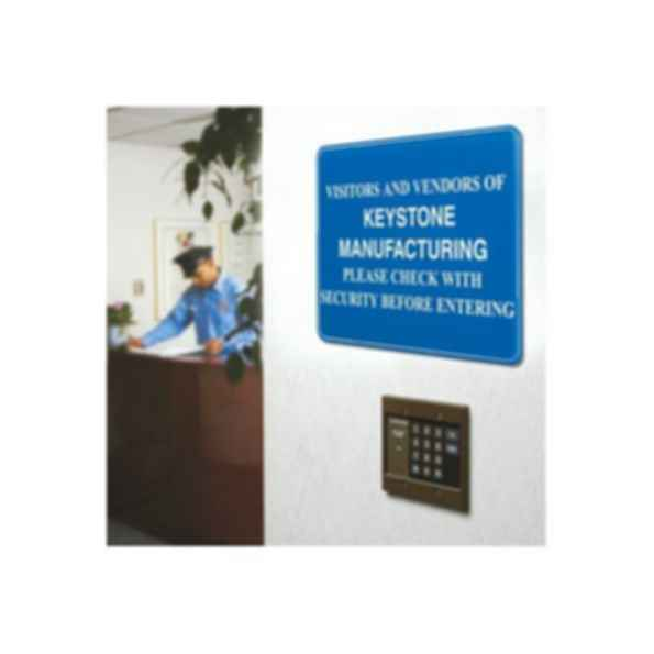 Custom Interior Decor Security Signs