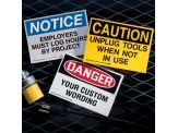 Custom OSHA Hazard Warning Labels