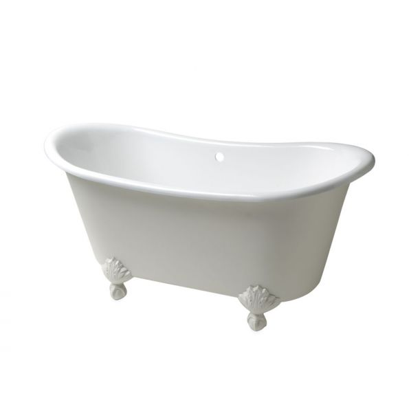 Candide Freestanding Oval Cast Iron Bathtub with Cast Iron Claw Feet ...