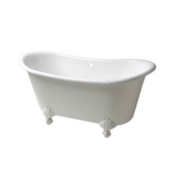 Candide Freestanding Oval Cast Iron Bathtub with Cast Iron Claw Feet