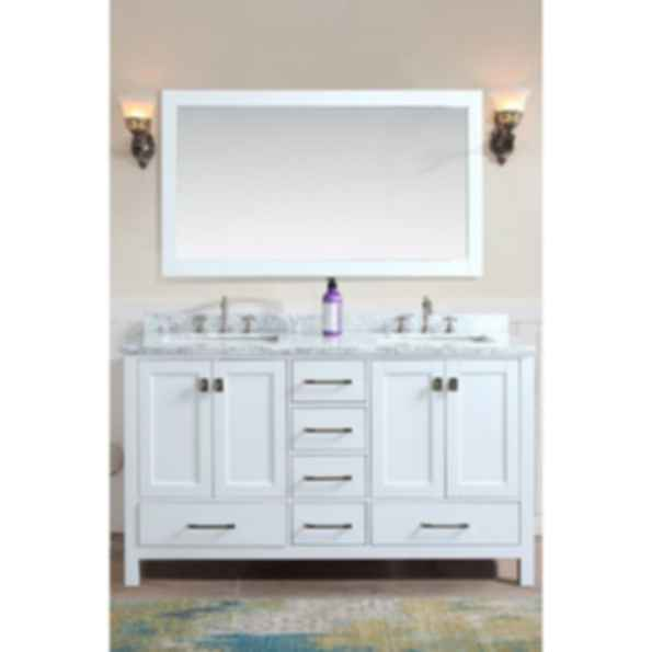 "Bella 72"" Bathroom Vanity - White"
