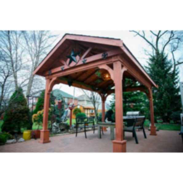 Red Cedar Gabled Roof Pavilion