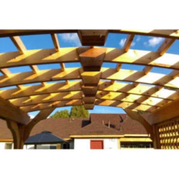 Arched Cedar Pergola