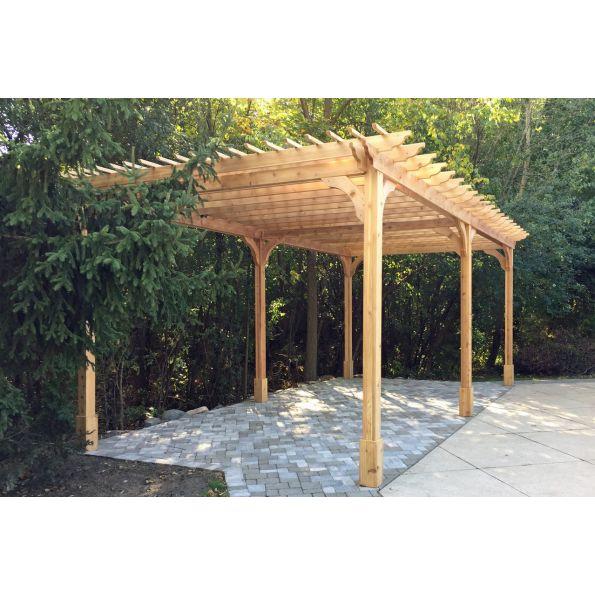 - Classic Cedar Pergola Kit - Modlar.com