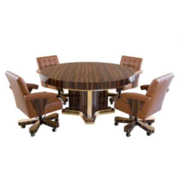 Luxor Round Poker Table
