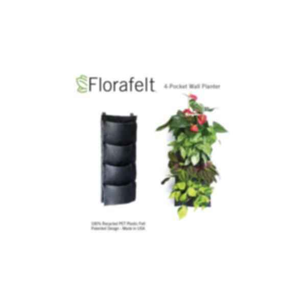 Florafelt 4-Pocket Vertical Garden Planter