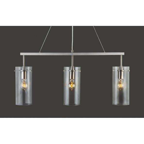 Effimero ThreeLight Hanging Island Pendant Linear Light Fixture - Three light island pendant