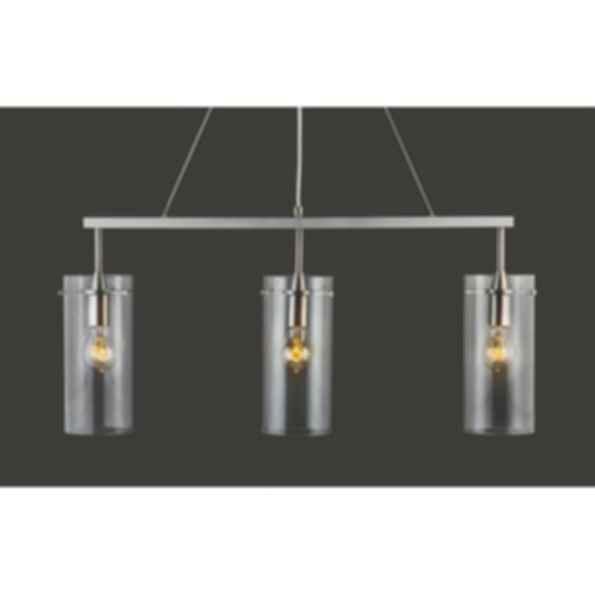 Effimero Three Light Hanging Island Pendant Linear Light