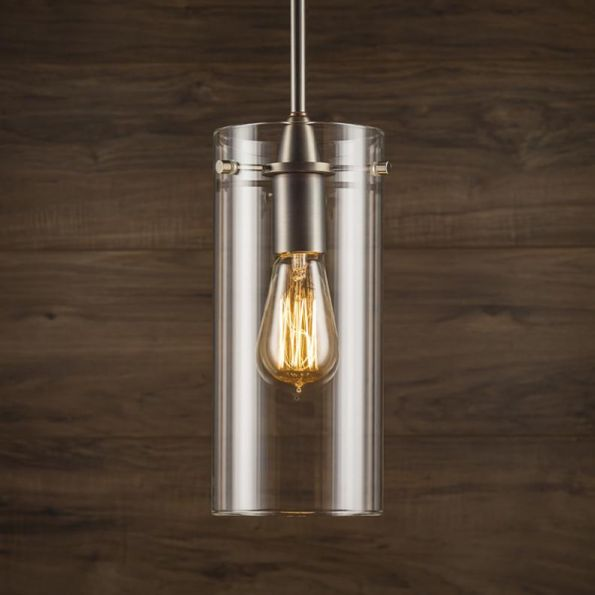 Effimero Large Stem Hung Pendant Lamp With Clear Glass ...