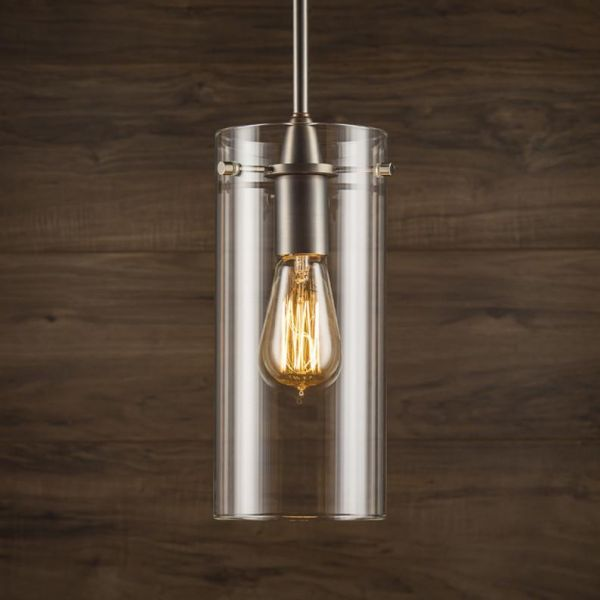 Effimero Large Stem Hung Pendant Lamp With Clear Glass