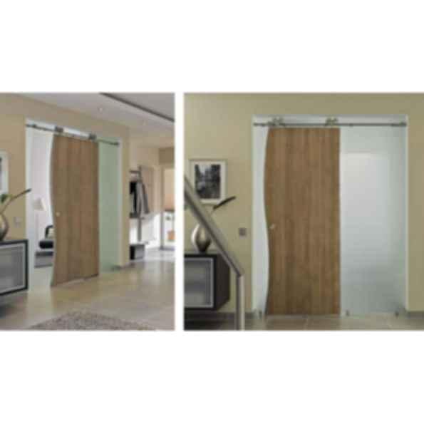 Duplex Mwe Modern Stainless Steel Sliding Door Hardware