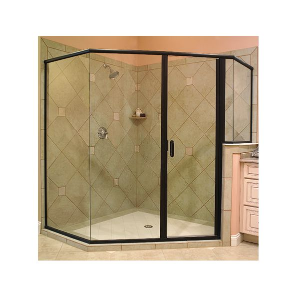 Crystalline Hinge Semi Frameless Shower Door Modlar