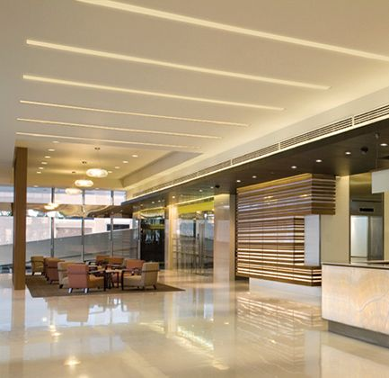 Recessed Dimmable Led Linear Fixture With Acrylic Diffuser