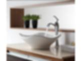 Kraus White Tulip Sink and Ventus Faucet