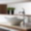 Kraus White Tulip Sink and Ventus Faucet Modlar Brand