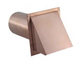 DWVCU Copper Wall Vent with Damper