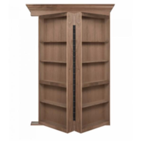Bifolding Walnut Hidden Door