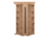 Bi Folding Knotty Alder Hidden Door