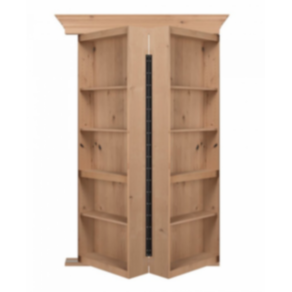 Bi Folding Knotty Alder Hidden Door