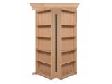 Bi-Folding Hickory Hidden Door
